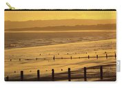 Sunset Over Beach In Winter Youghal Carry-all Pouch