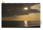 Sunset Over The Gulf - Peeking Through The Clouds Carry-all Pouch