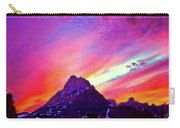 Sunset Over The Sierras Carry-all Pouch