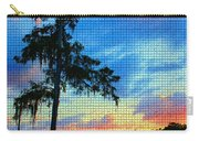 Sunset Over The Suwanee Mosaic Carry-all Pouch