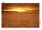 Sunset Over Wheat Field Carry-all Pouch
