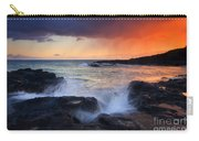Sunset Storm Passing Carry-all Pouch by Mike  Dawson