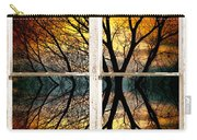Sunset Tree Silhouette Abstract Picture Window View Carry-all Pouch