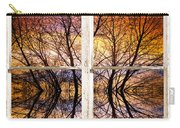 Sunset Tree Silhouette Colorful Abstract Picture Window View Carry-all Pouch by James BO  Insogna