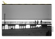 Sunsets On Coney Island In Black And White Carry-all Pouch