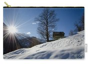 Sunshine Over The Snow Carry-all Pouch