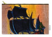Sunship Galleon On Wood Carry-all Pouch