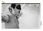 Superboy Of Peachtree Black And White Carry-all Pouch