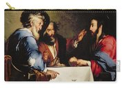 Supper At Emmaus Carry-all Pouch by Bernardo Strozzi