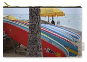 Surfboards On Waikiki Beach Carry-all Pouch