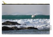 Surfing In Cornwall Carry-all Pouch by Brian Roscorla