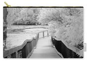 Infrared Surreal Black White Infrared Bridge Walk Carry-all Pouch