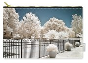 Surreal Michigan Infrared Nature - Dreamy Color Infrared Nature Fence Landscape Michigan Infrared Carry-all Pouch