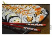 Sushi And Chopsticks Carry-all Pouch