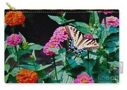 Swallowtail Among The Zinnias Carry-all Pouch