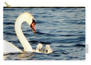 Swan And Signets On Wall Lake  Carry-all Pouch