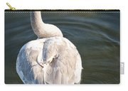 Swan On Evergreen Lake At Kellogg Bird Sanctuary No.0014 Carry-all Pouch