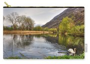 Swan Swimming On A Lake Carry-all Pouch