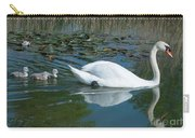 Swan With Cygnets Carry-all Pouch