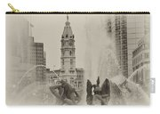 Swann Memorial Fountain In Sepia Carry-all Pouch by Bill Cannon
