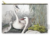 Swans, C1850 Carry-all Pouch by Granger