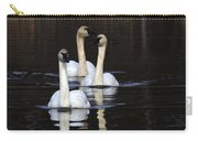 Swans In A Row Carry-all Pouch