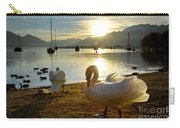 Swans In Sunset Carry-all Pouch