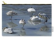 Swans On The Ice Along The Tagish Carry-all Pouch