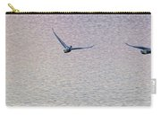 Swans Taking Off From Tagish River Carry-all Pouch