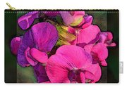 Sweet Pea Pop Out Photoart Square Carry-all Pouch