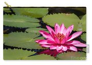 Sweet Pink Water Lily In The River Carry-all Pouch