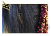 sweetheart - a Menorca race horse with traditional multicolor ribbons and mirror star Carry-all Pouch