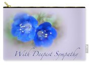 Sympathy Card - Blue Wildflower Carry-all Pouch