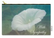 Sympathy Greeting Card - Wild Morning Glory - Bindweed Carry-all Pouch