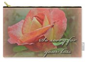 Sympathy Greeting Card - Peach Rose Carry-all Pouch