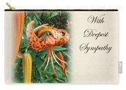 Sympathy Greeting Card - Wildflower Turk's Cap Lily Carry-all Pouch