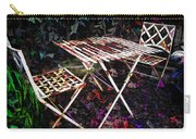 Table And Chairs Carry-all Pouch by Joan  Minchak