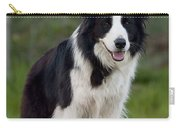 Taj - Border Collie Carry-all Pouch by Michelle Wrighton