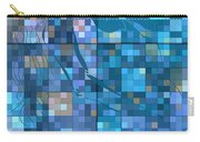 Take Me Geometric Blue Carry-all Pouch