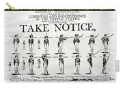 Revolutionary War  Take Notice  Carry-all Pouch