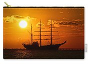 Tall Ship At Sunset Carry-all Pouch