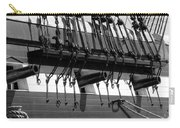 Tall Ship Canons Black And White Carry-all Pouch