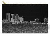 Tampa Panorama Digital - Black And White Carry-all Pouch