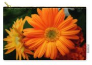 Tangerine Colored Gerbera Daisies Carry-all Pouch