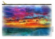 Taos Sunset Iv Watercolor Carry-all Pouch