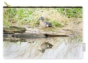 Teal Duck Standing On A Log Carry-all Pouch