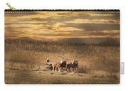 Team Of Four Horses Carry-all Pouch