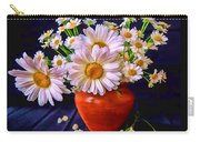 Technicolor Daisies In An Orange Pot Carry-all Pouch