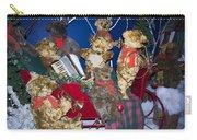 Teddy Bear Band Christmas Carry-all Pouch