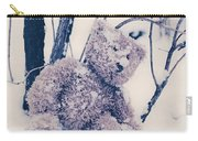 Teddy In Snow Carry-all Pouch